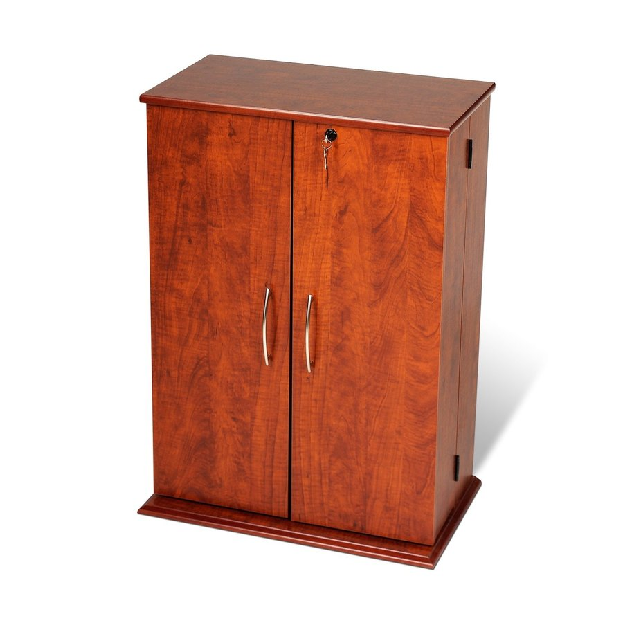 Prepac Furniture Cherry Composite Freestanding Media Cabinet