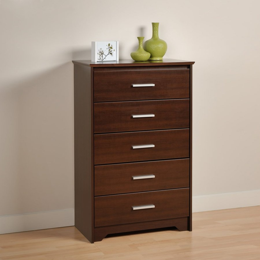 Prepac Furniture Coal Harbor Espresso 5-Drawer Chest