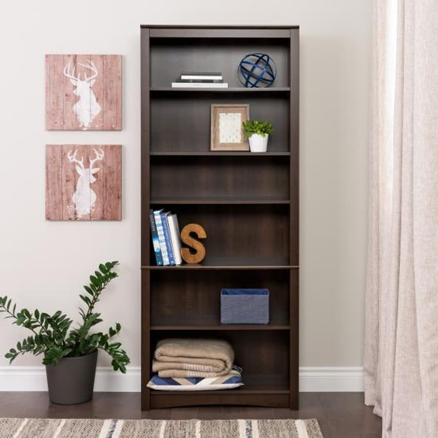 Prepac Furniture Espresso 6-Shelf Bookcase