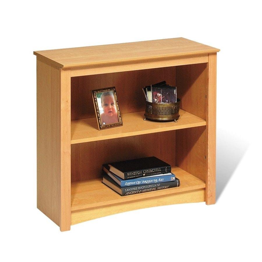Prepac Furniture Maple 31.5-in W x 29-in H x 13-in D 2-Shelf Bookcase