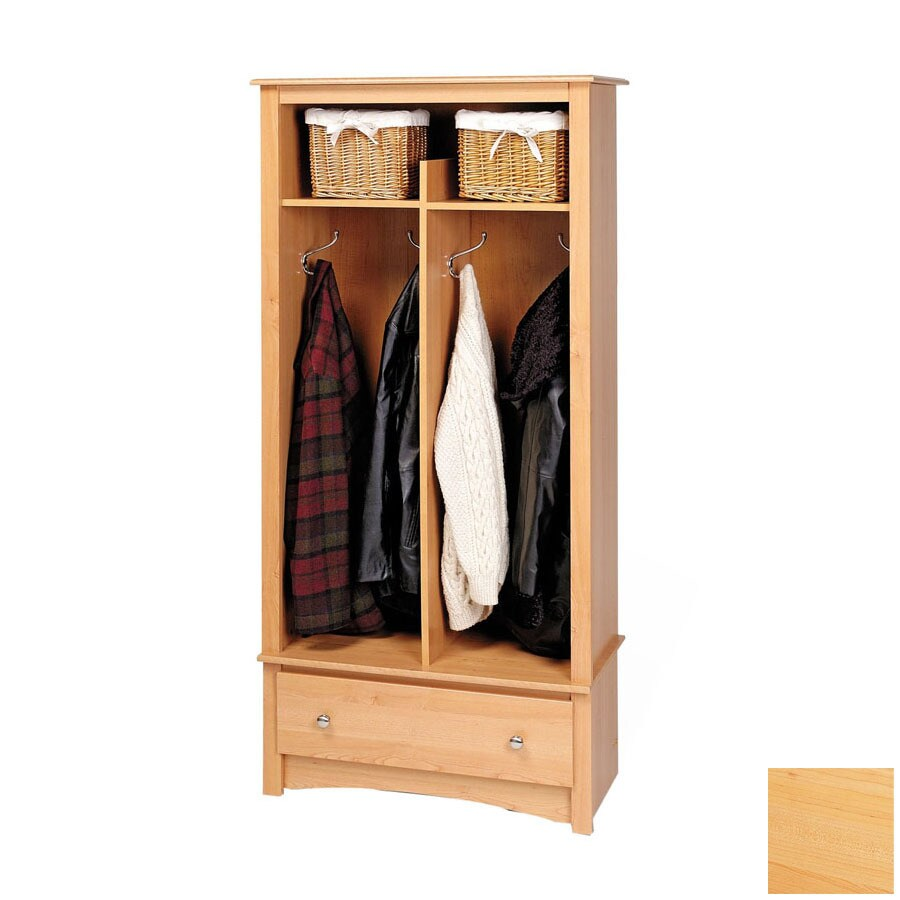 Prepac Furniture Maple 4-Hook Coat Stand