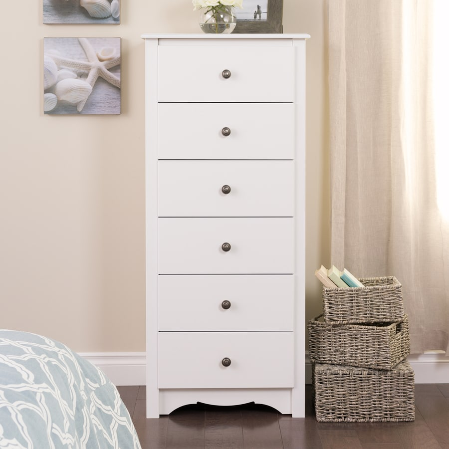 Prepac Furniture Monterey White 6-Drawer Lingerie Chest