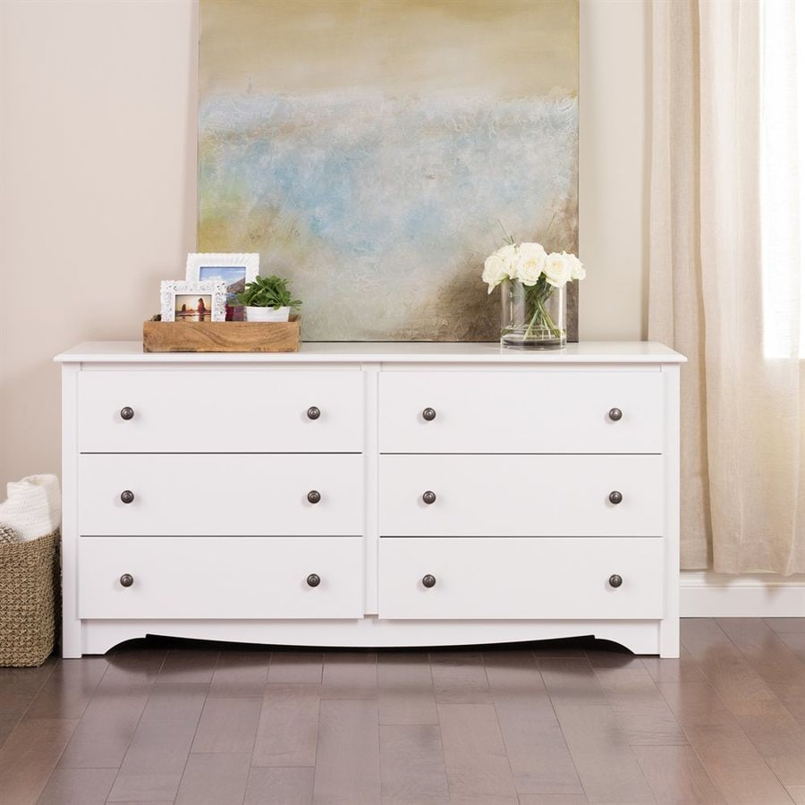 Prepac Furniture Monterey White 6-Drawer Dresser