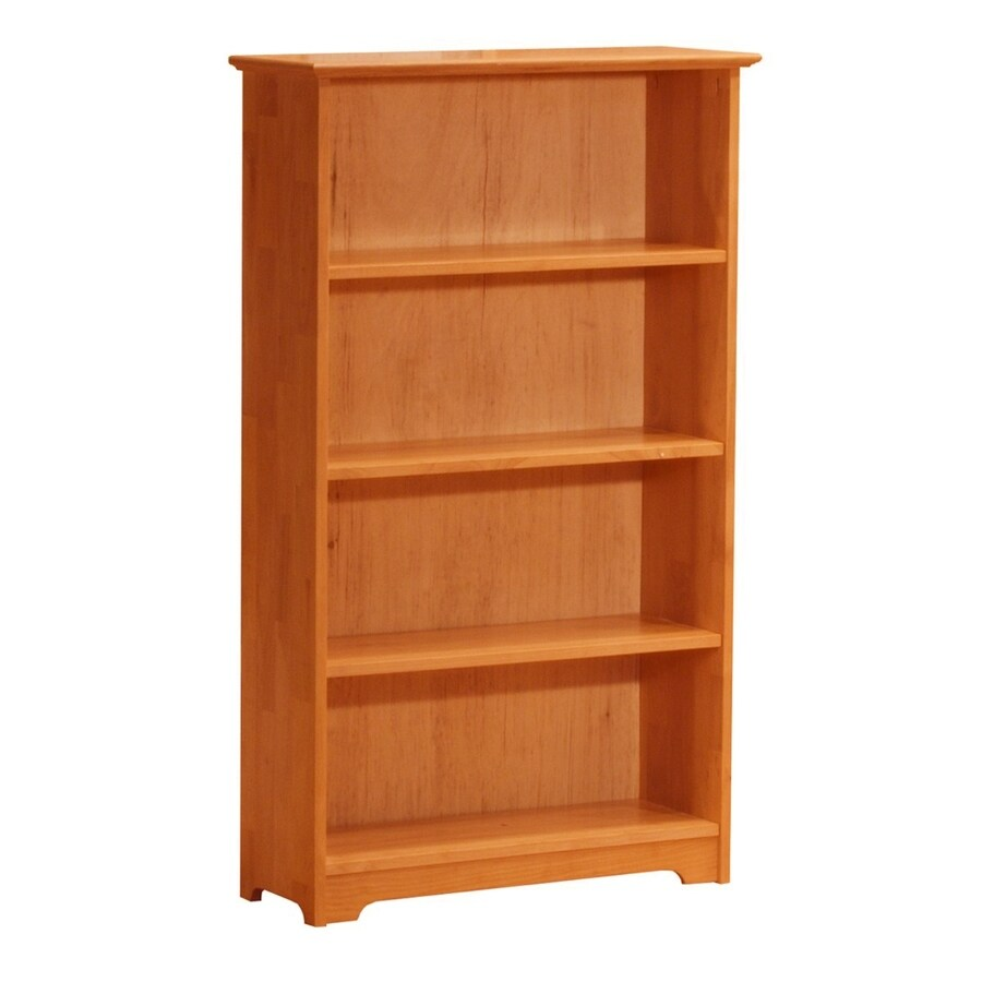 Atlantic Furniture Windsor Caramel Latte 32.5-in W x 54.5-in H x 12-in D 4-Shelf Bookcase