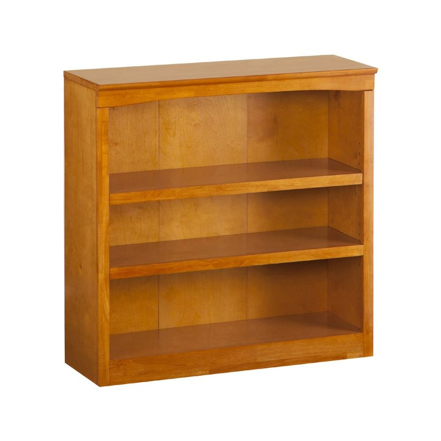 Atlantic Furniture Caramel Latte 36-in W x 36-in H x 12.5-in D 3-Shelf Bookcase
