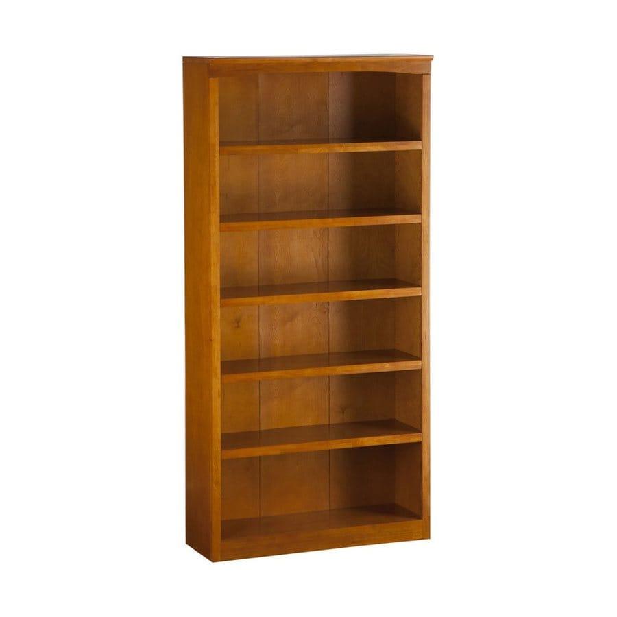 Atlantic Furniture Caramel Latte 6-Shelf Bookcase