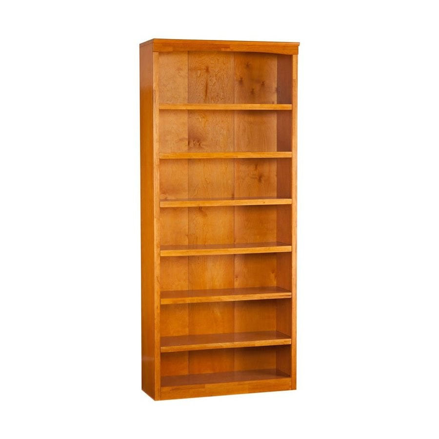 Atlantic Furniture Caramel Latte 36-in W x 84-in H x 12.5-in D 7-Shelf Bookcase