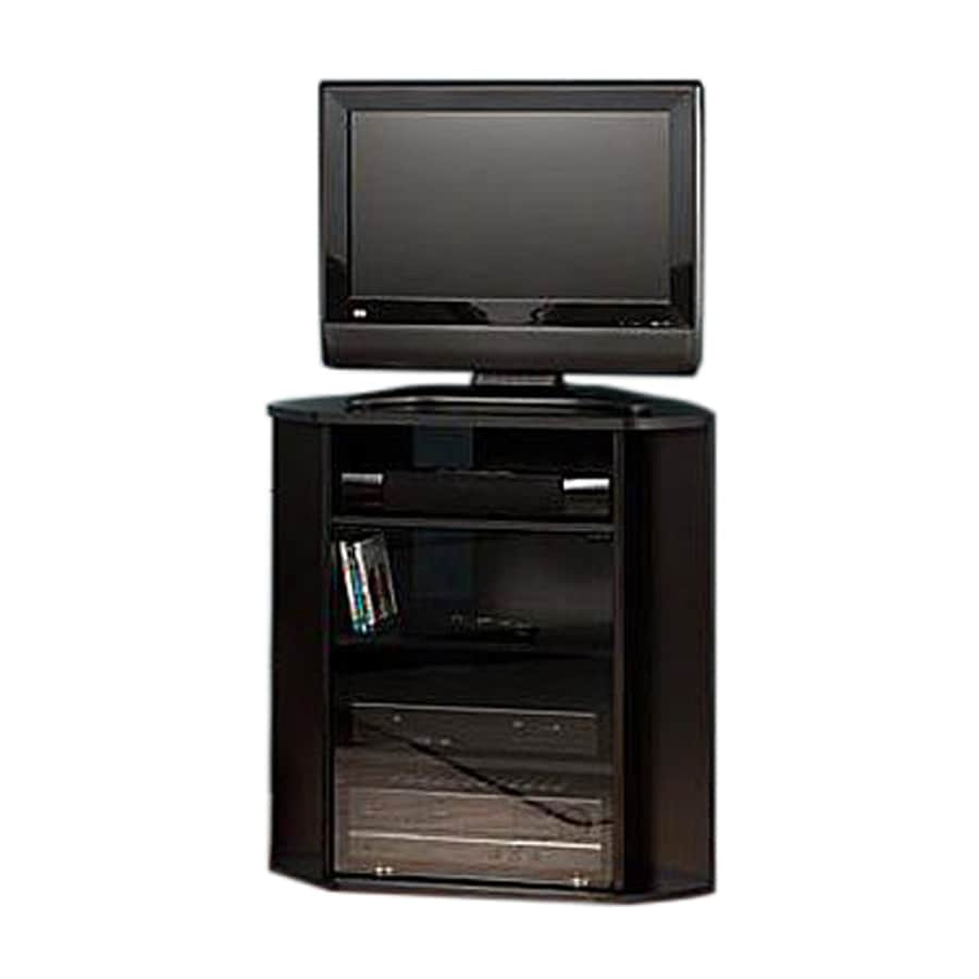 Bush Furniture Visions Black Corner TV Stand