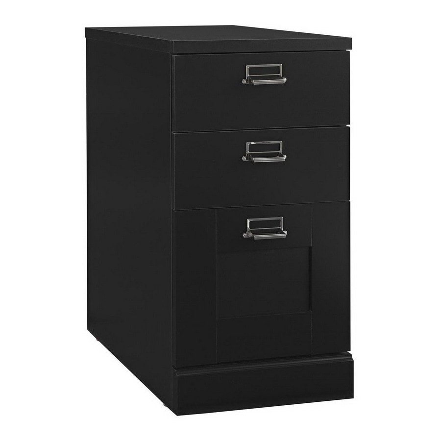Bush Furniture Myspace Stockport Classic Black 3-Drawer File Cabinet