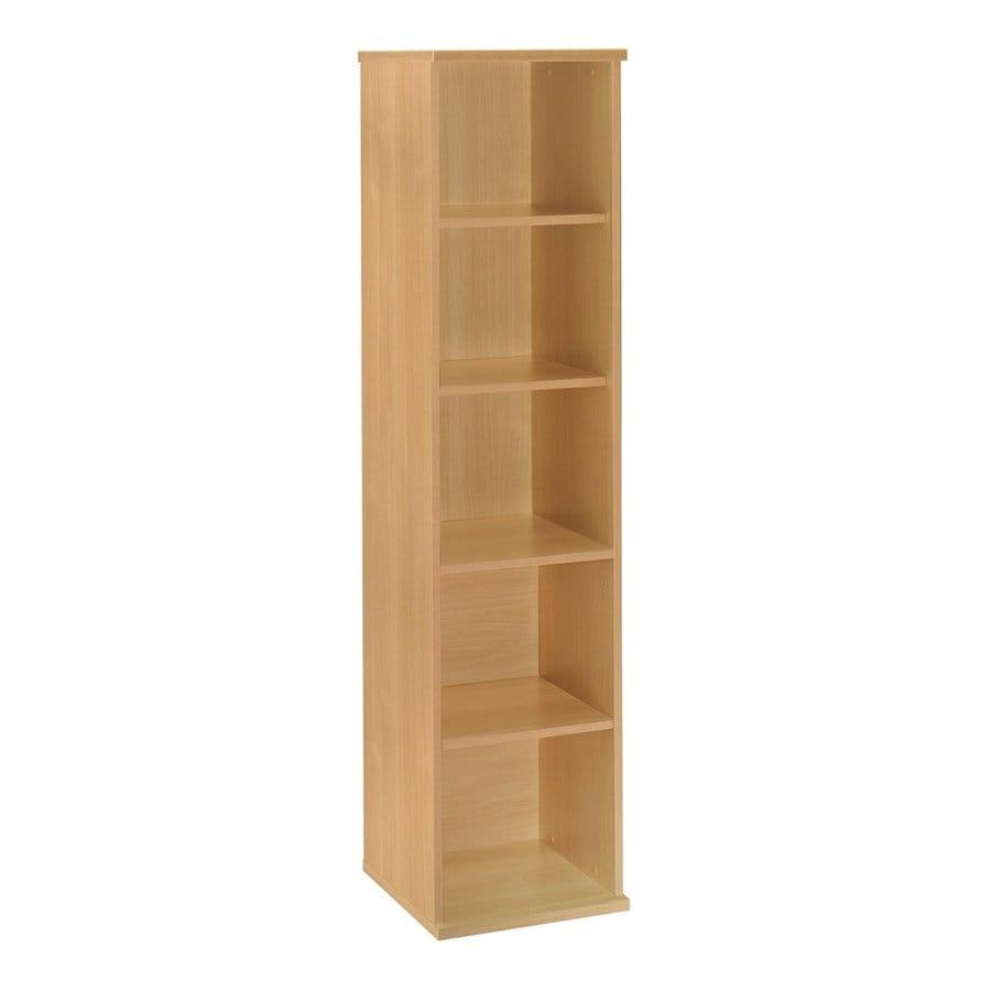 Bush Furniture Series C Light Oak 17.84-in W x 72.83-in H x 15.35-in D 5-Shelf Bookcase