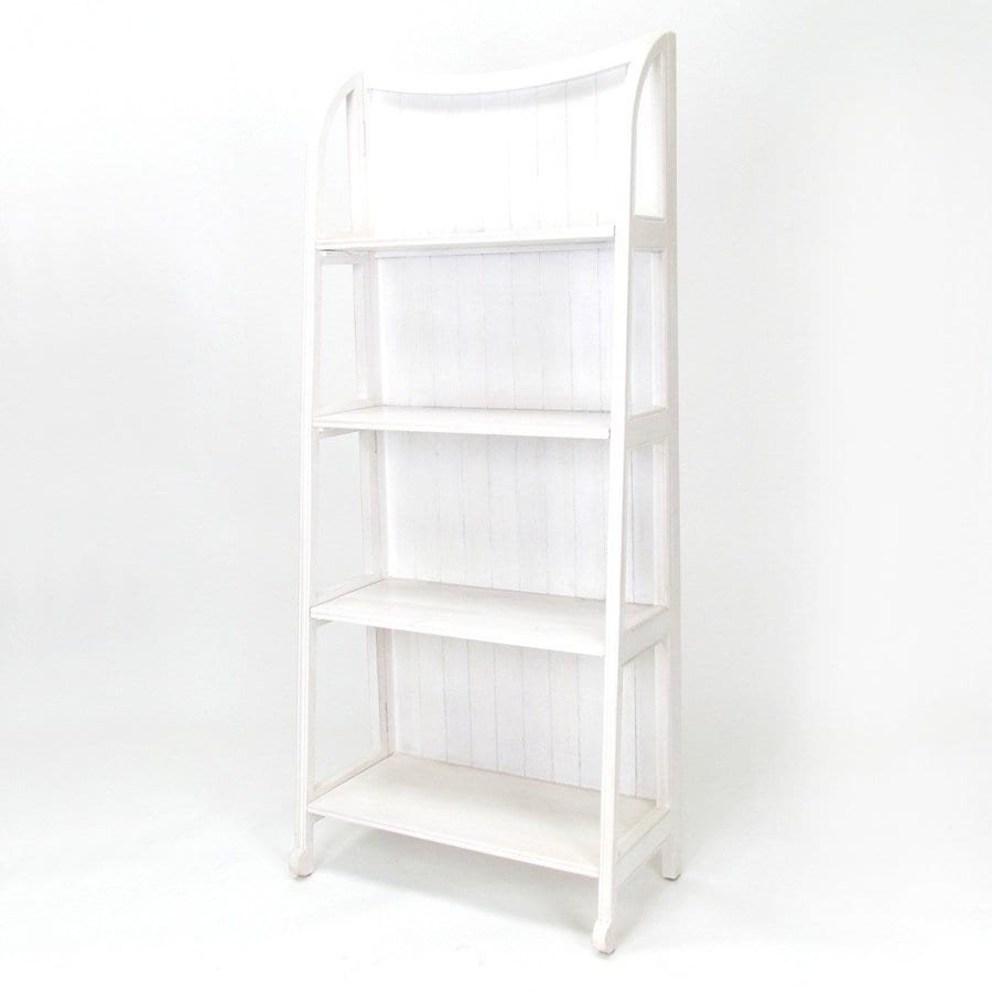 Wayborn Furniture Whitewash 26-in W x 60-in H x 13-in D 4-Shelf Bookcase