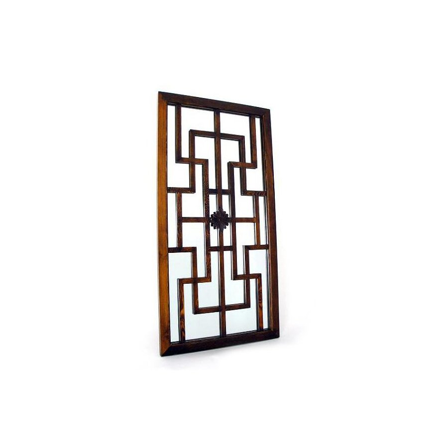 Shop Wayborn Furniture 20 In X 40 In Brown Rectangle Framed Mirror