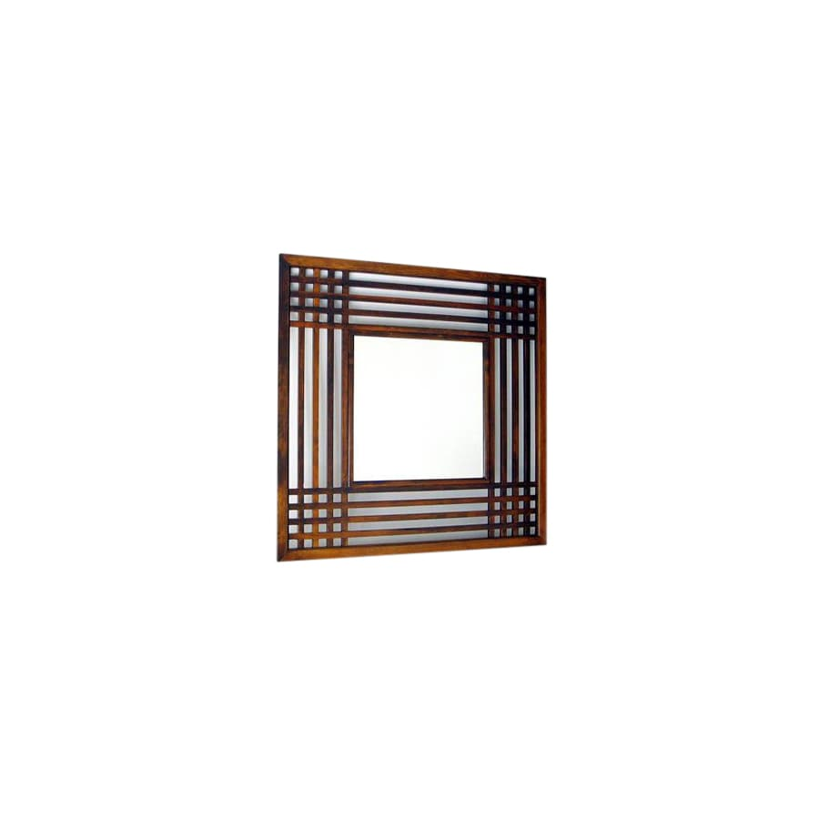 Wayborn Furniture 40 In X 40 In Brown Square Framed Mirror At Lowes Com