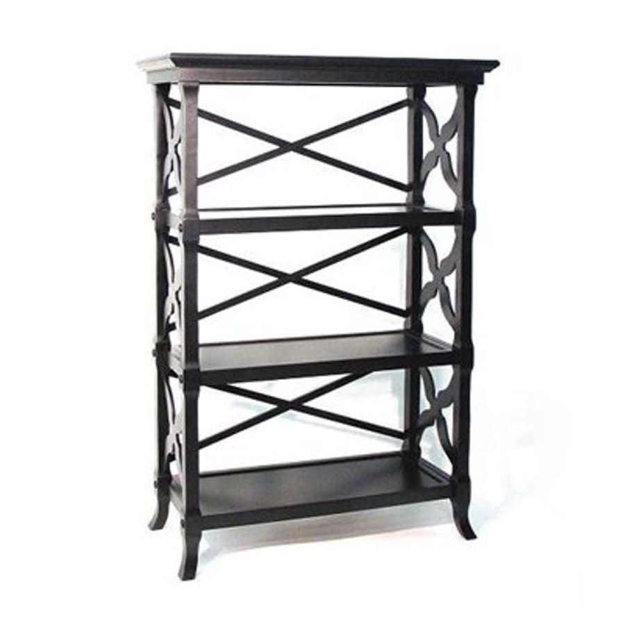Wayborn Furniture Charter Black 32-in W x 46.5-in H x 14-in D 3-Shelf Bookcase