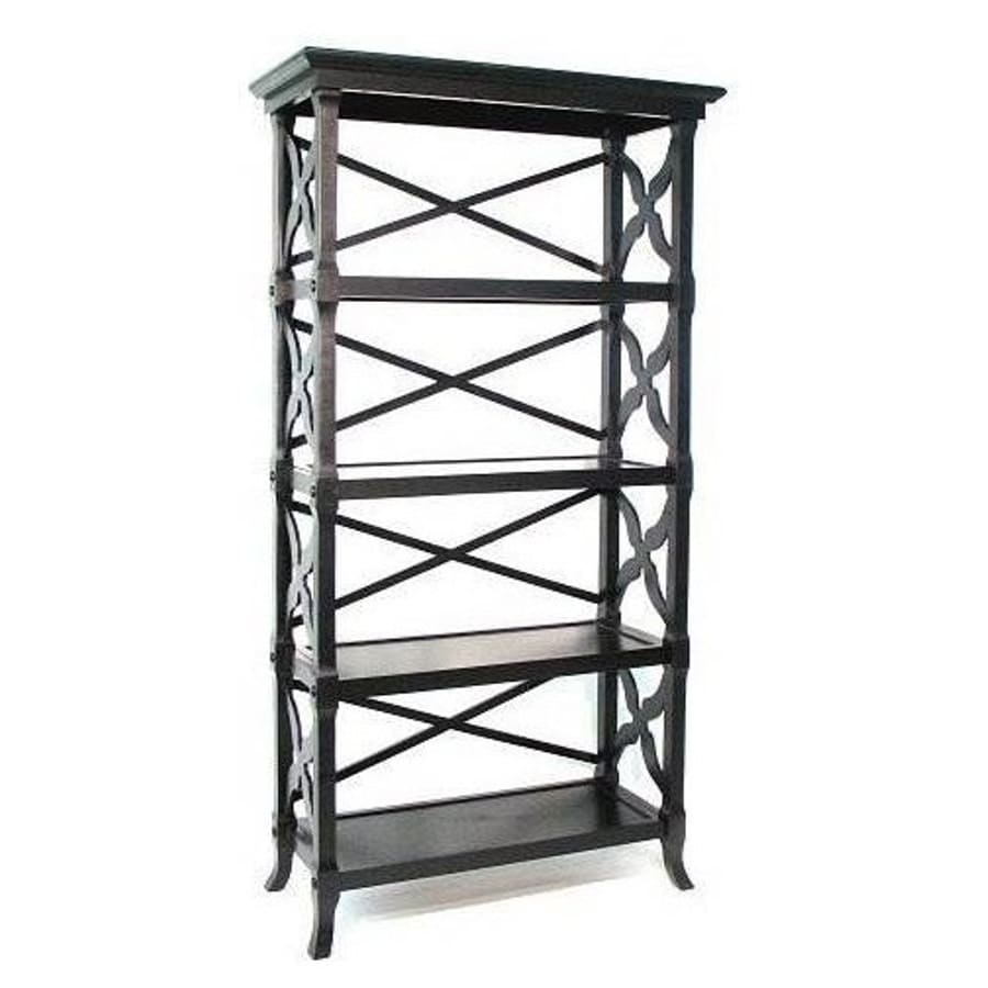 Wayborn Furniture Charter Black 4-Shelf Bookcase