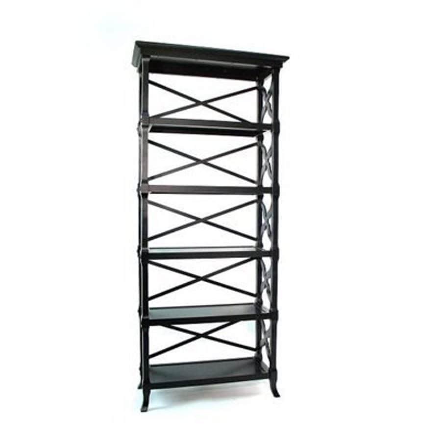 Wayborn Furniture Charter Black 32-in W x 73.5-in H x 14-in D 5-Shelf Bookcase