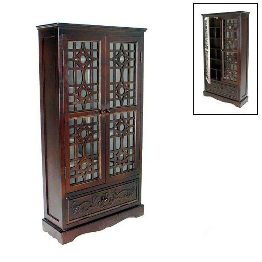 Wayborn Furniture Brown Wood Freestanding Media Cabinet