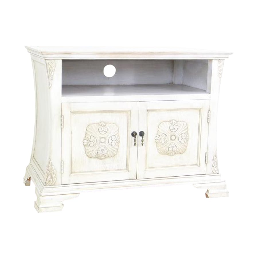Wayborn Furniture Medallion Whitewash Rectangular Television Cabinet