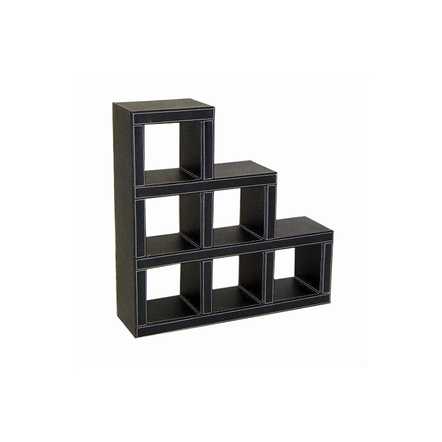 Wayborn Furniture Leather Black 22.5-in 0-Shelf Bookcase