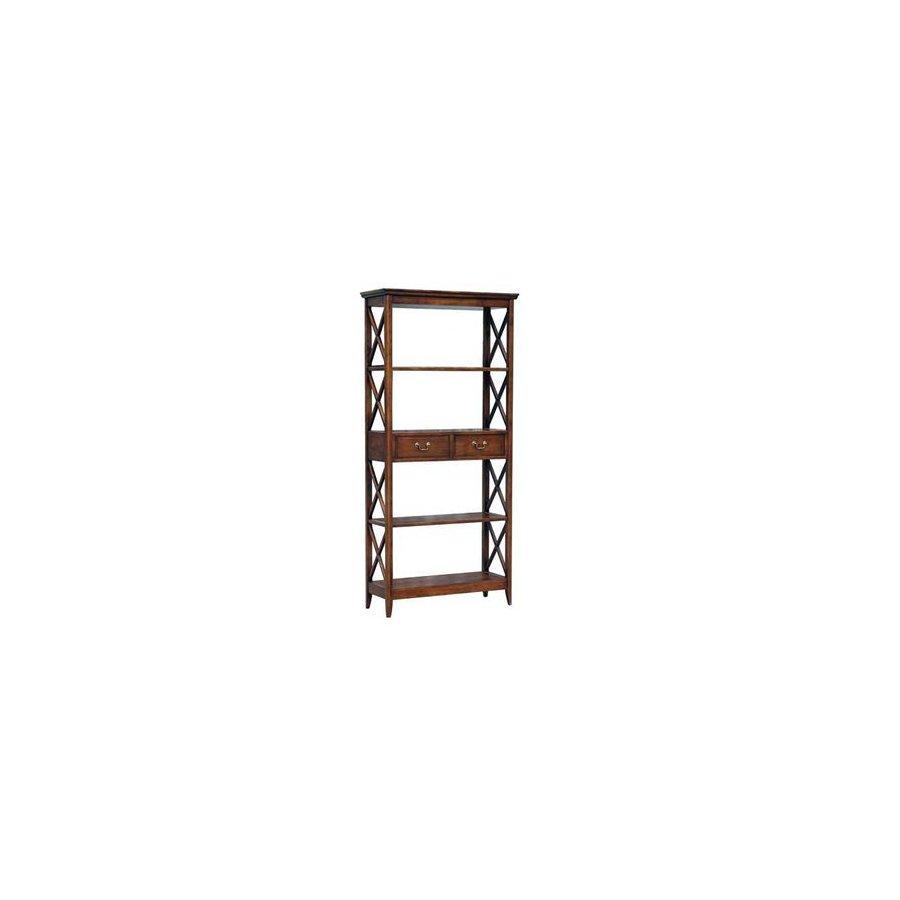 Wayborn Furniture Eiffel Brown 5-Shelf Bookcase