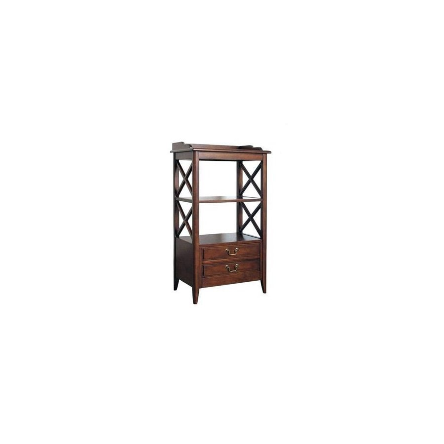 Wayborn Furniture Eiffel Brown 5-Shelf Bookcase
