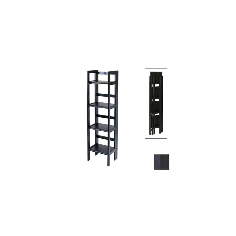 Winsome Wood Black 51.5-in 4-Shelf Bookcase