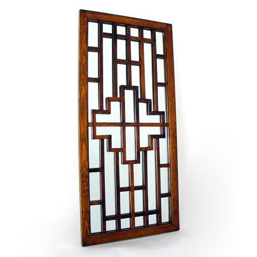 Wayborn Furniture Onfai Brown Wall Mirror
