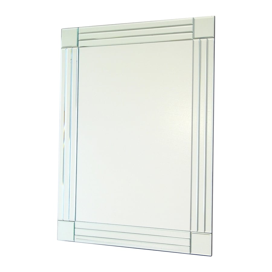 shop wayborn furniture column clear beveled frameless wall