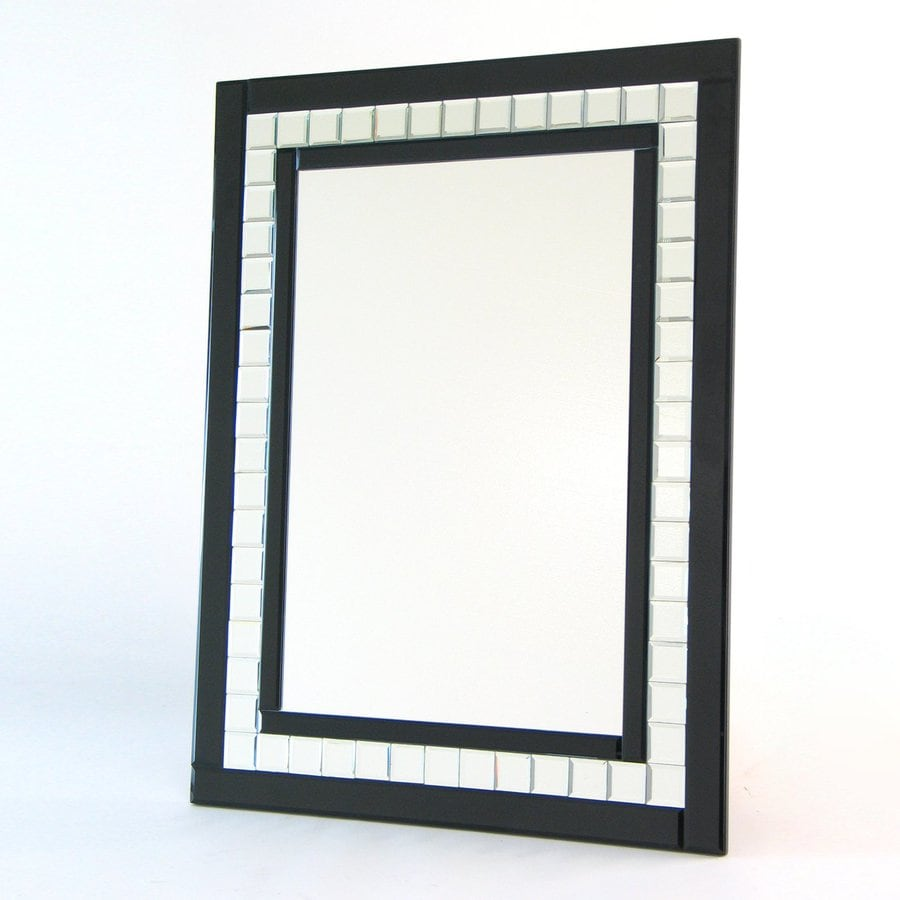 Shop Wayborn Furniture Black Diamond Beveled Wall Mirror At