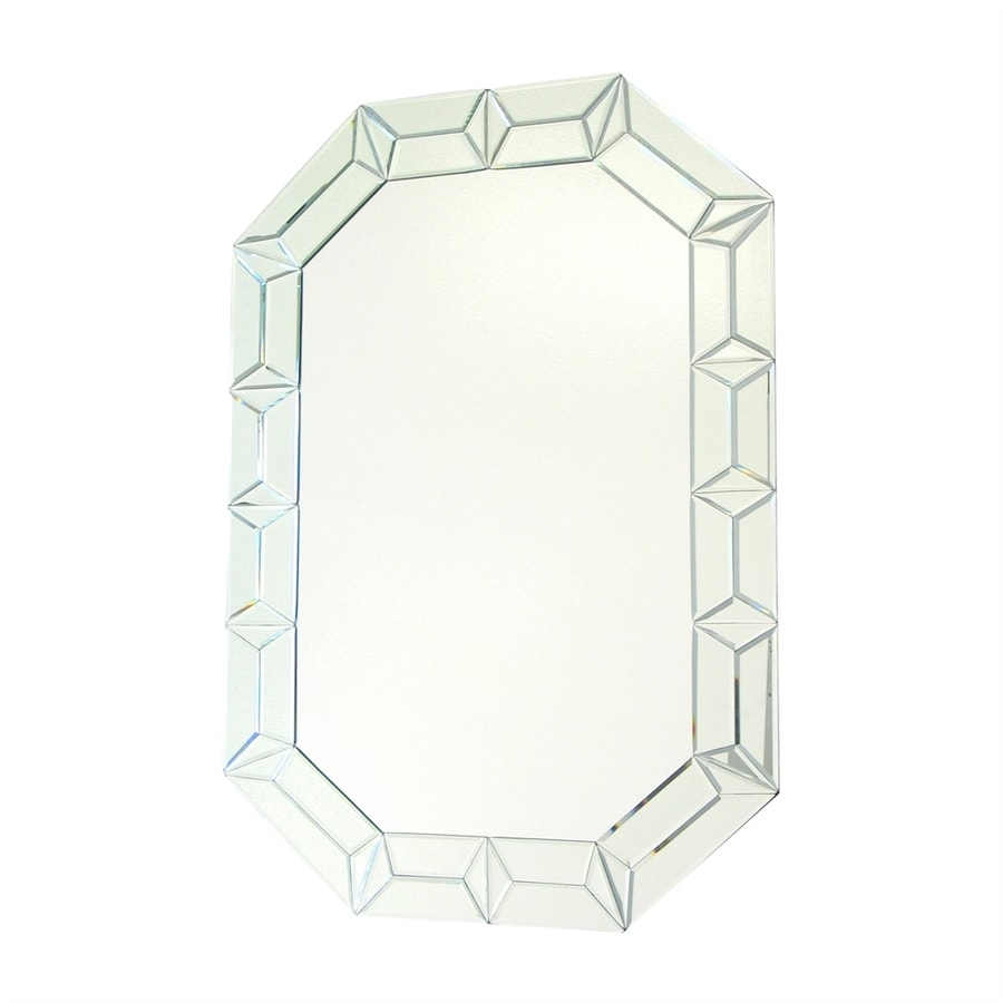 Wayborn Furniture Diamond Clear Beveled Octagon Frameless Wall Mirror