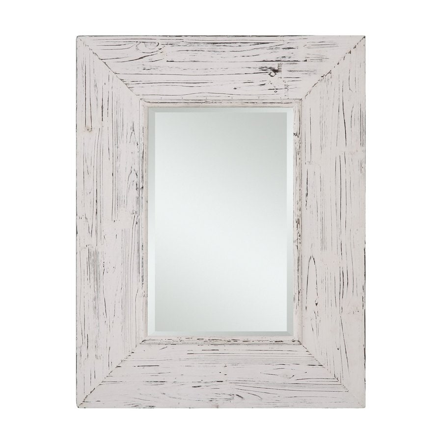 Shop cooper classics wilkes 275 in x 355 in distressed white cooper classics wilkes 275 in x 355 in distressed white beveled rectangle framed country amipublicfo Choice Image