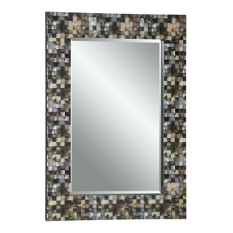 Cooper Clics 30 In X 42 Faux Mother Of Pearl Rectangular Framed Wall