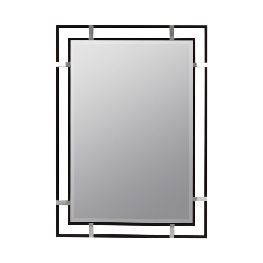 Cooper Classics Kinzie Black Beveled Wall Mirror