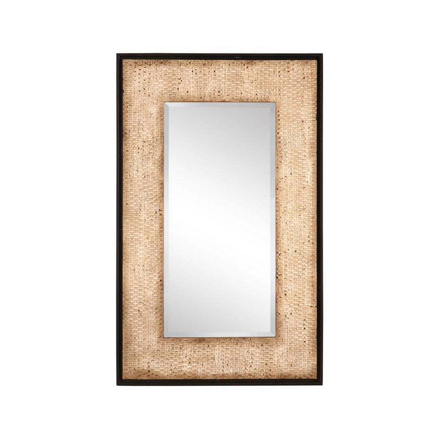 Cooper Clics 30 In X 48 Rattan Rectangular Framed Mirror