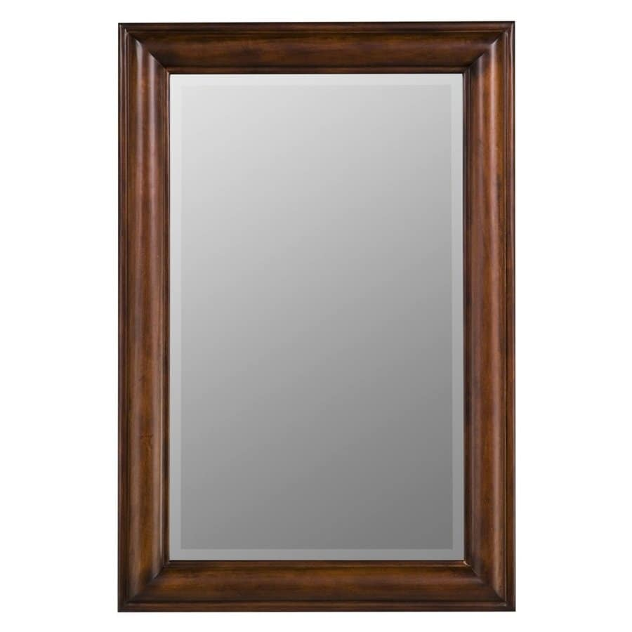 Cooper Classics Julia 24-in x 36-in Vineyard Beveled Rectangle Framed Transitional Wall Mirror