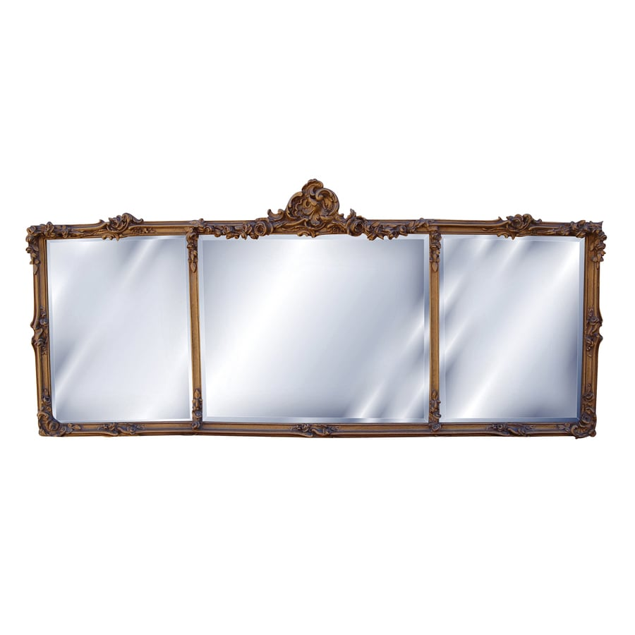 Hickory Manor House Georgian Mantel Antique Gold Beveled Wall Mirror