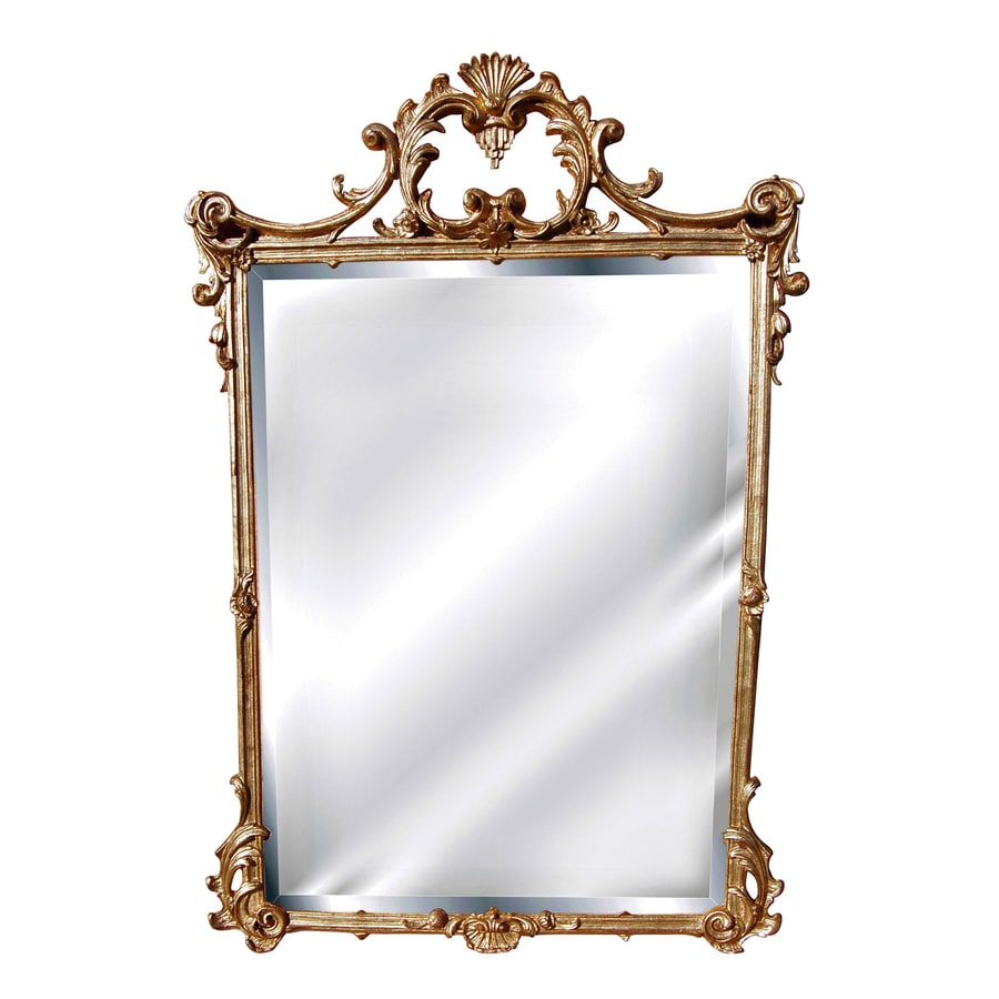 Hickory Manor House English 26-in x 39-in Gold Leaf Beveled Rectangle Framed Wall Mirror