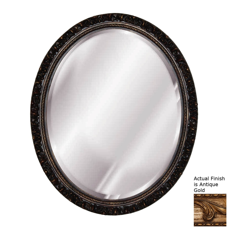 Hickory Manor House Baroque Antique Gold Beveled Oval Wall Mirror