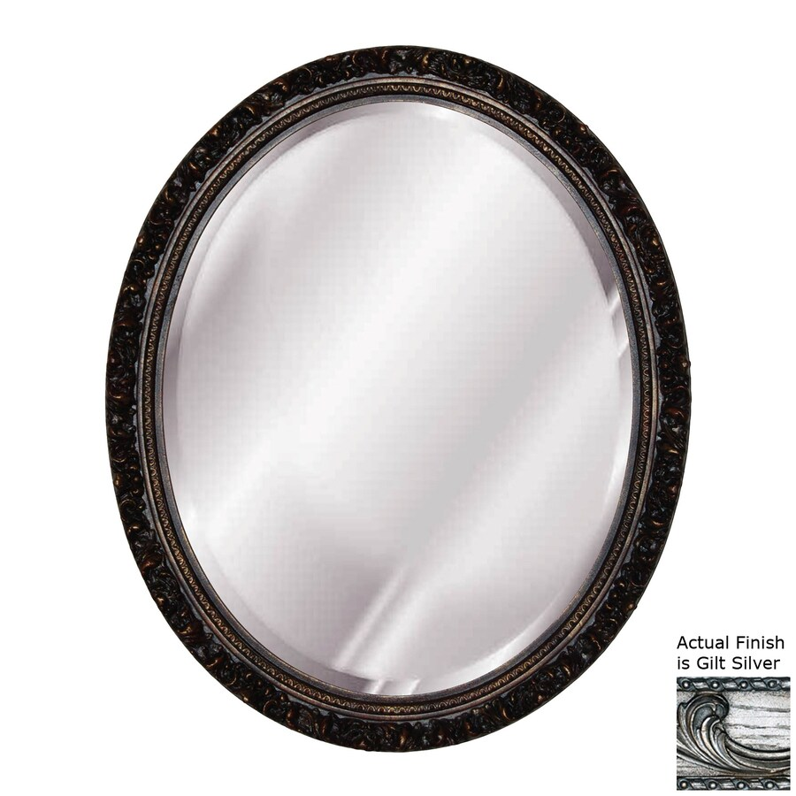 Shop hickory manor house baroque gilt silver beveled oval for Plastic baroque mirror