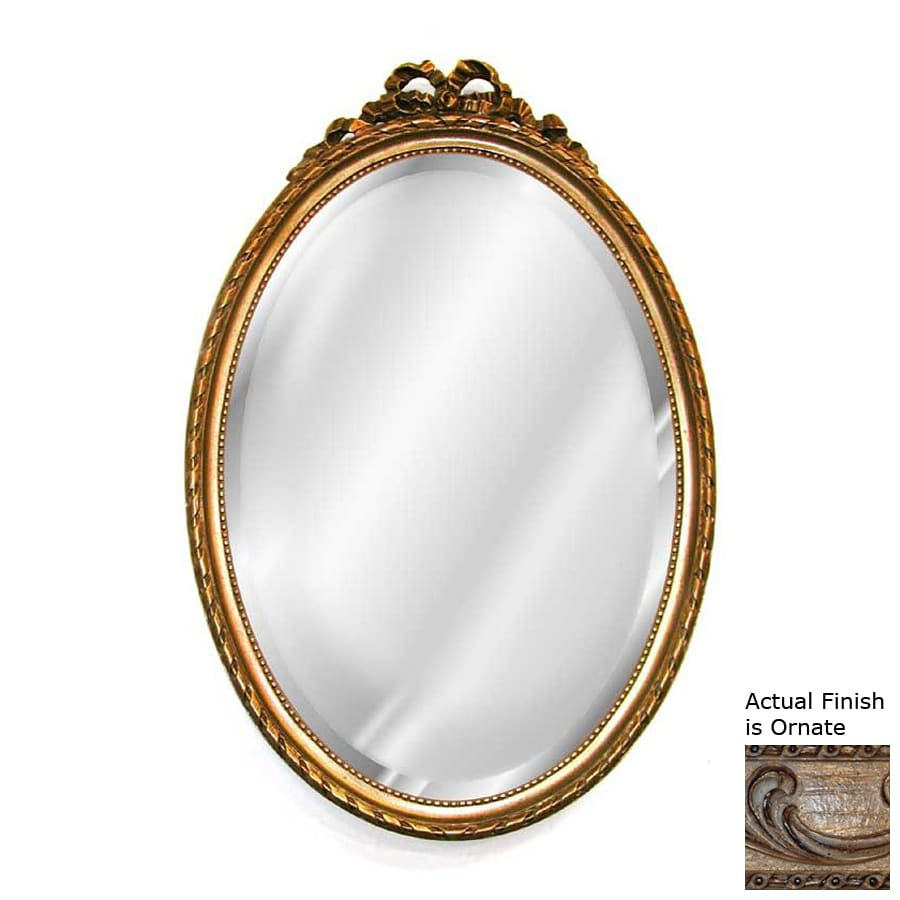 Shop hickory manor house bow ornate beveled oval wall for Beveled mirror