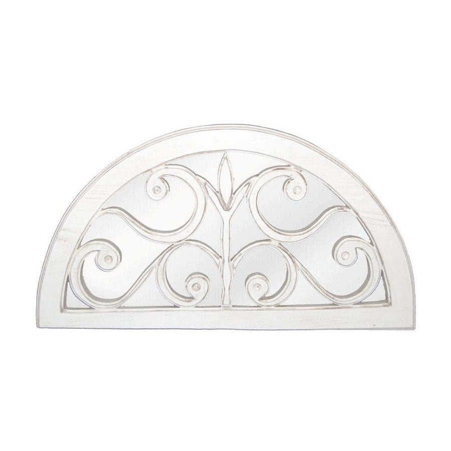 Hickory Manor House Windsor 30.5-in x 16.75-in Bright White Polished Arch Framed Wall Mirror