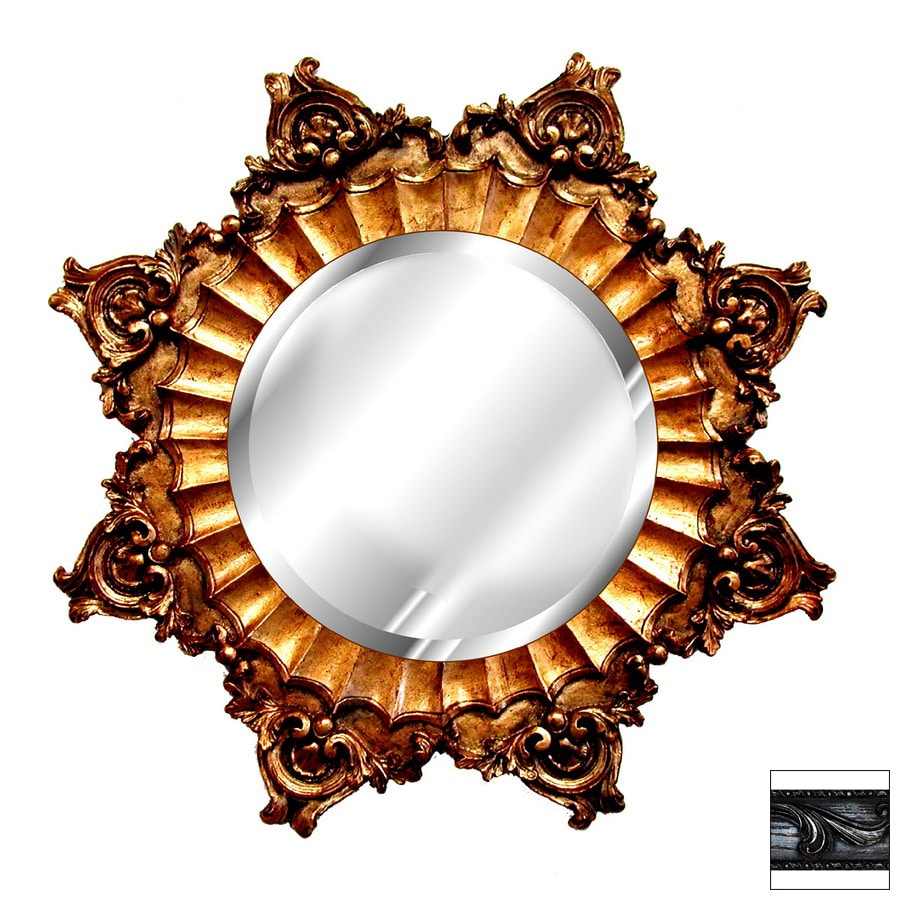 Hickory Manor House 35 In X 35 In Black Gold Silver Round Framed