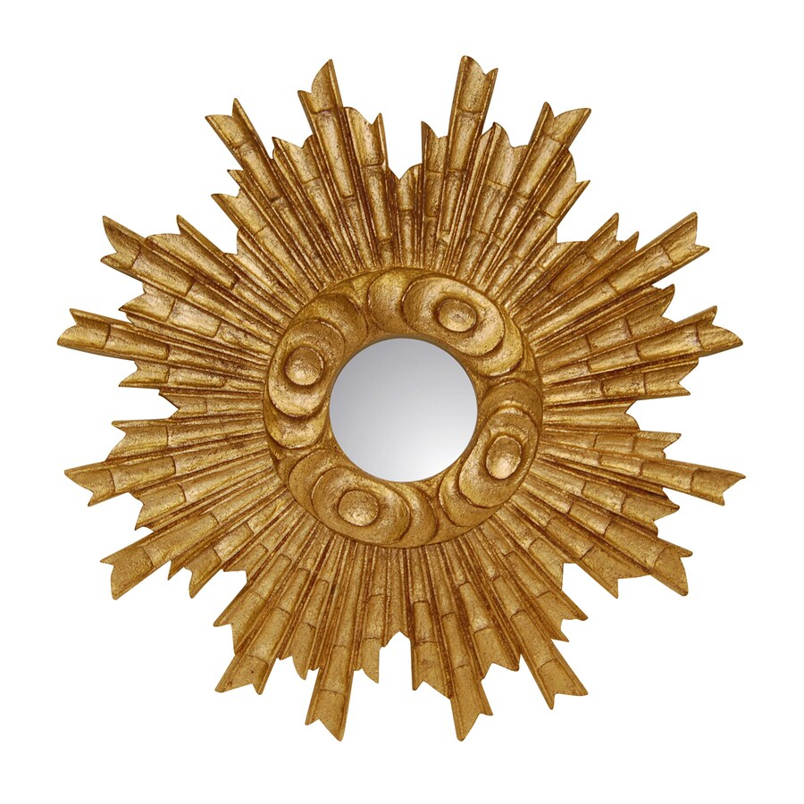 Hickory Manor House Padrone Gold Leaf Polished Round Wall Mirror