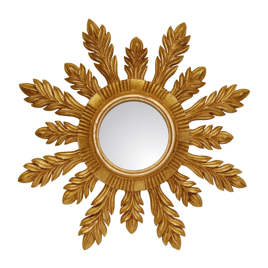 Hickory Manor House Solare Gold Leaf Polished Round Wall Mirror