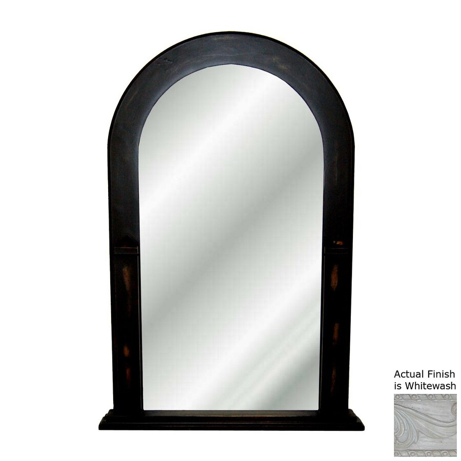 Hickory Manor House Whitewash Polished Arch Wall Mirror