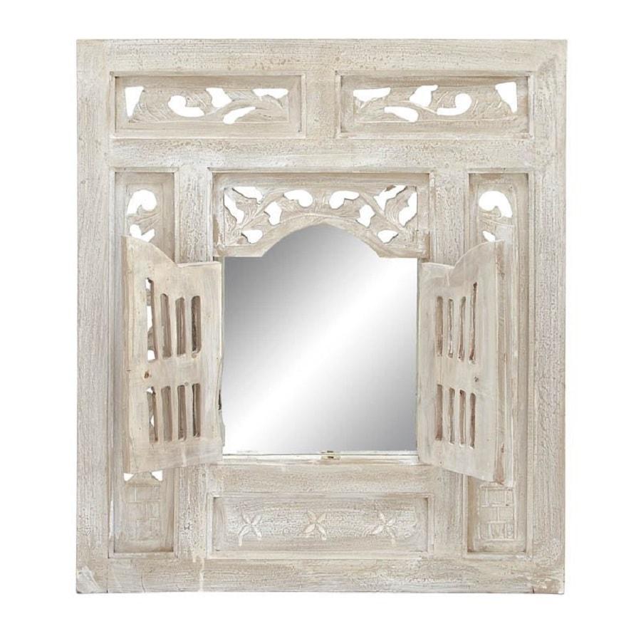 Woodland Imports Off-White Beveled Wall Mirror