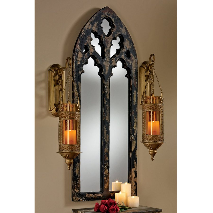 Shop Design Toscano Gothic Cathedral 1.5-in L x 20-in W Black/Gold ...