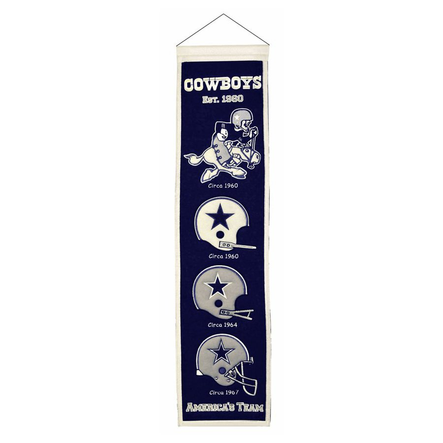 Winning Streak 2.67-ft W x 0.67-ft H Embroidered Dallas Cowboys Banner