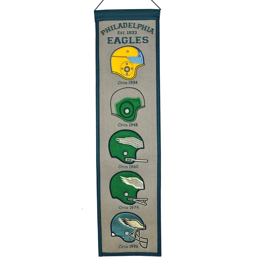 Winning Streak 2.67-ft W x 0.67-ft H Embroidered Philadelphia Eagles Banner