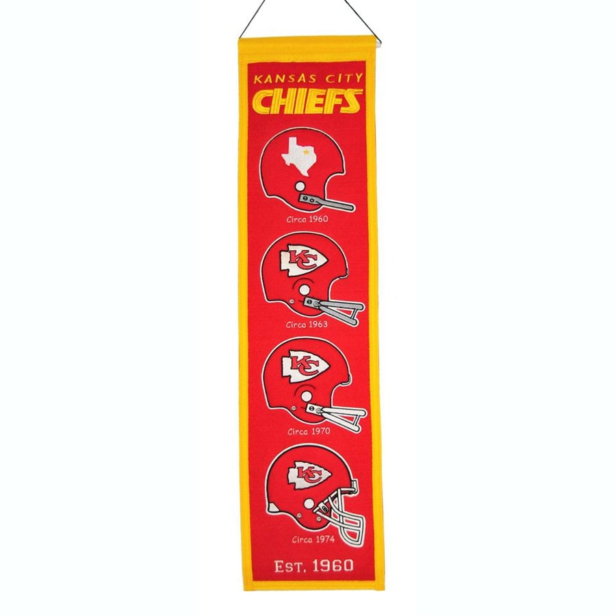 Winning Streak 2.67-ft W x 0.67-ft H Embroidered Kansas City Chiefs Banner
